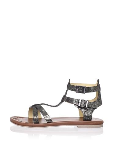 Matt Bernson Women's KM Gladiator Flat Sandal (Gunmetal)