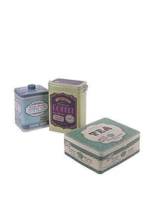 Molecuisine Box 3er Set Vintage mehrfarbig