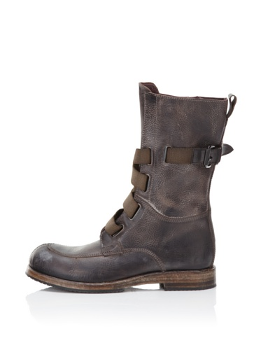 I.AM Men's Leather High Top Boot (Charcoal)