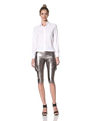 Norma Kamali Women's Button-Front Shirt (White)