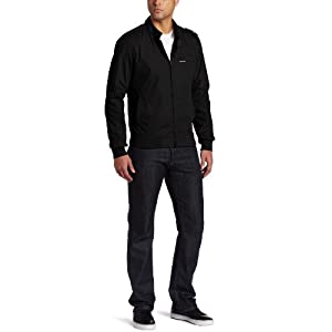 Members Only Men's Iconic Racer Jacket, Black, Small
