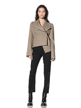 Ann Demeulemeester Women's Asymmetrical Button-Front Jacket (Rope)