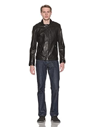 Mackage Men's Nathan Leather Jacket (Black)