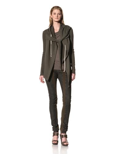 RICK OWENS Women's Hooded Wrap Jacket (Dark Dust)