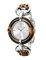 Gucci Women's YA132403 Bamboo Silver Sun-Brushed Dial Watch