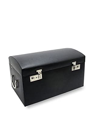 Morelle & Co. Marylyn Leather Jewelry Chest with 3 Takeaway cases (Black)