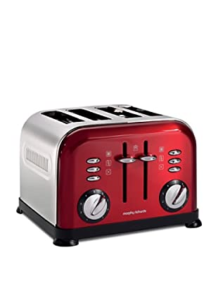 Morphy Richards Toaster 4 Scheiben, 1800 W Rot
