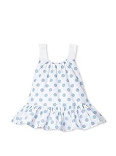 Journal Girl's Dotted Drop Waist Dress (Blue Dot)