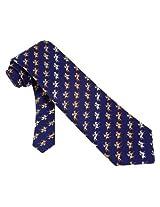 Men's 100% Silk Blue Equestrian Horse Racing Win Place Show Neck Tie Necktie Neckwear