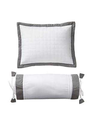 Mélange Home Set of 2 Seersucker Decorative Pillows, Neutral Stripe