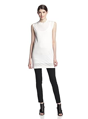 Rick Owens Lilies Women's Mock Neck Top (Milk)