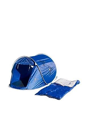 Columbus Pack Tienda De Campaña + Saco De Dormir Combo Pop Up Boy (Azul)
