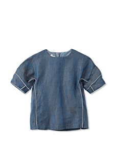 kicokids Girl's Sculpted Cocoon Blouse (Surf)