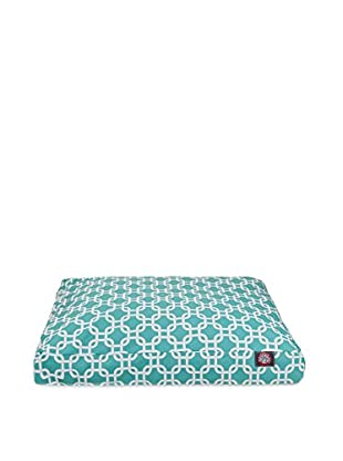Links Small Rectangle Pet Bed, Teal