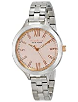 Caravelle by Bulova Crystal Analog Gold Dial Women's Watch - 45L141