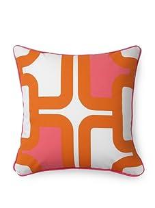Room Service Mod Lattice Pillow (Pink/Orange/White)