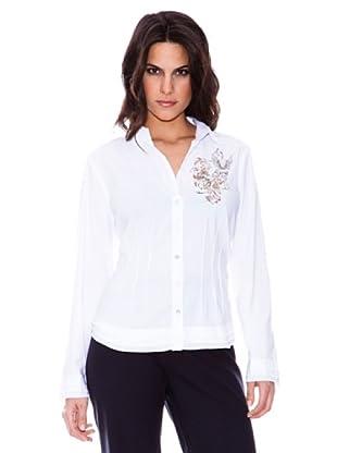 Steilmann Camisa Stretch Con Dibujo Estampado (blanco)