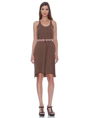Siyu Kleid Schmale Träger (Braun)