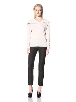 Les Copains Women's Soft Portrait Collar Sweater (Latte)