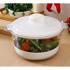 Trust White Plastic Rice Cooker Cum Vegetable Steamer- TR 20