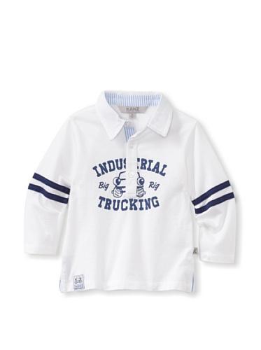 KANZ Baby Long Sleeve Polo (White)