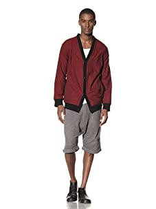 B: Scott Men's Flannel Cardigan (Red)
