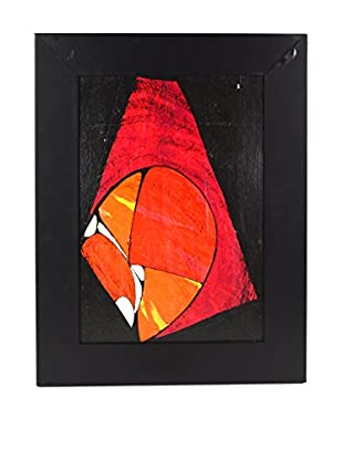 Uptown Down Previously Owned Framed Modern Acrylic Painting