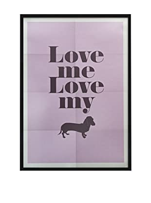 Póster Enmarcado Love My Dog