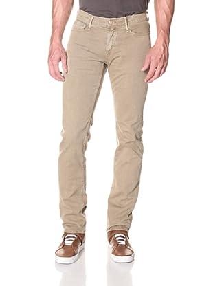 Earnest Sewn Men's 5 Pocket Straight Twill Jean (Khaki)