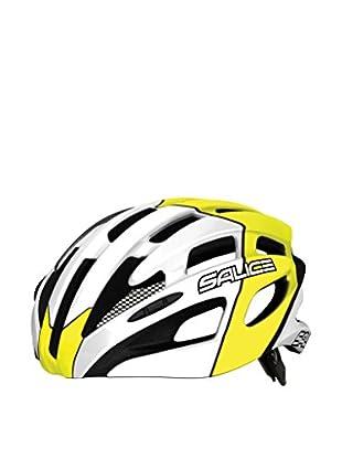 Salice Casco de Ciclismo Spin Amarillo / Blanco