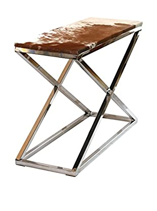 filling spaces Cowhide X-Frame Console, Brown