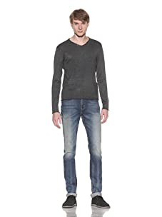 Fresh Men's Rolled Edge Sweater (Anthracite)