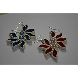 Quillings by SSE - Combo Of 2 Quilling Colourful Hangings Earring