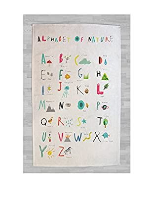 LITTLE NICE THINGS Alfombra Alphabet Of Nature 90 x 140 cm