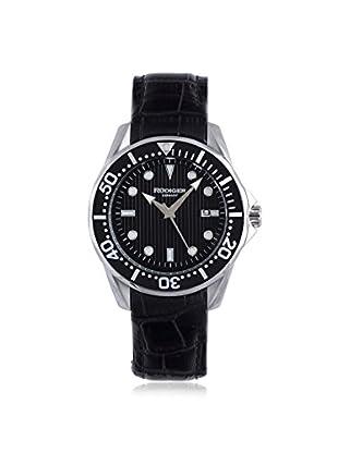 Rudiger Men's R2000-04-007L Chemnitz Black IP Rotating Bezel Luminous Dial Watch