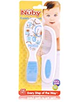 Nuby Baby Comb and Hair Brush - No. 711, 2 Pieces Pouch