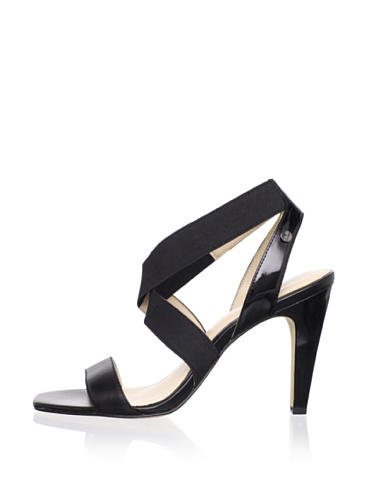 Calvin Klein Women's Lydia Strappy Sandal (Black Patent)