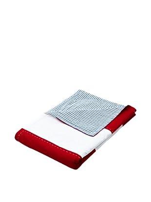 Lexington Company Colcha Block Striped (Rojo / Blanco)