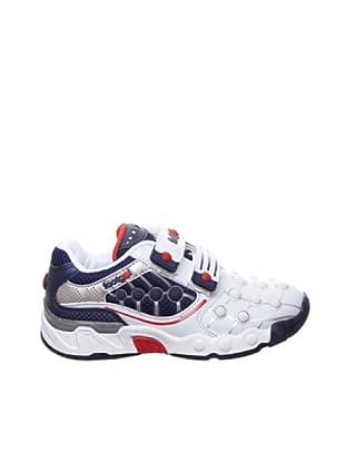 Footgol Sneakers Doppelklett (weiss/blau/rot)