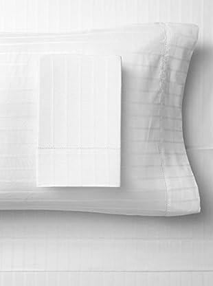 Bambeco 400 TC Organic Sheet Set Sateen Stripe (White)