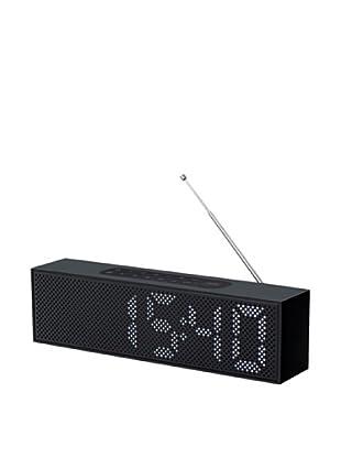 Lexon Titanium LED Clock Radio, Black