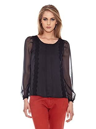 Pepe Jeans London Blusa Lauren (Negro)