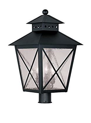 Crestwood Madelynn 3-Light Post Head, Black