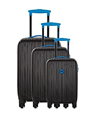 Bag Stone Set de 3 trolleys rígidos Milady Carbón / Azul