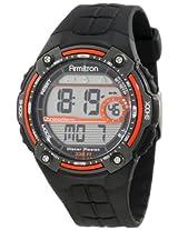 Armitron Sport Men's 40/8189ORG Orange Accented Black Resin Digital Chronograph Watch