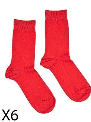 Condor Calcetines pack 6 (Rojo)