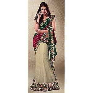 Triveni TSMH2513 Embroidered Saree - Multicolour