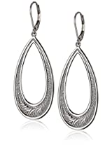 Elle Jewelry Ambrosia Sterling Silver Drop Hoop Earrings