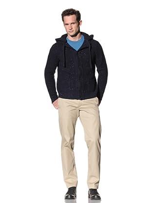 Cruciani Men's Knit Hoodie (Blue)