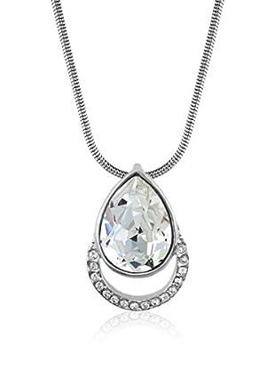 Absolute Crystals Conjunto de cadena y colgante Cradle Pear Plateado